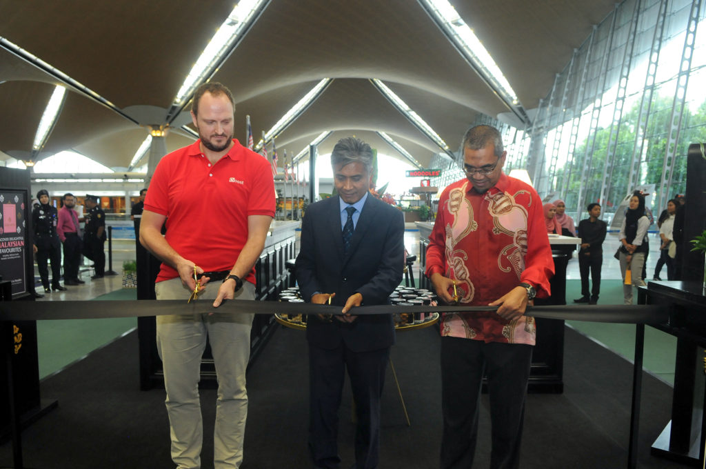 Ready for launch: A ribbon cutting marks the start of Malaysia Airports' 2018 Ramadhan and Raya campaign