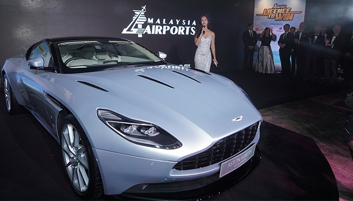 The 'Licence to win' grand prize is an Aston Martin DB11 worth RM2m.