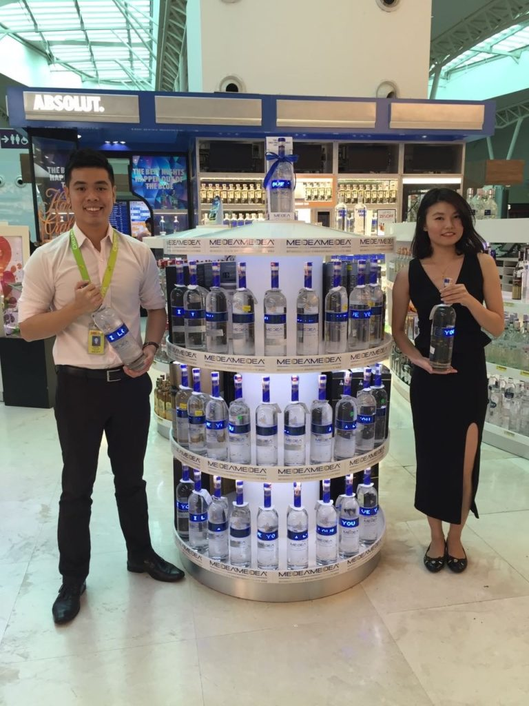A one-of-a-kind: Medea vodka and its value-added technology star in the Eraman promotion at klia2