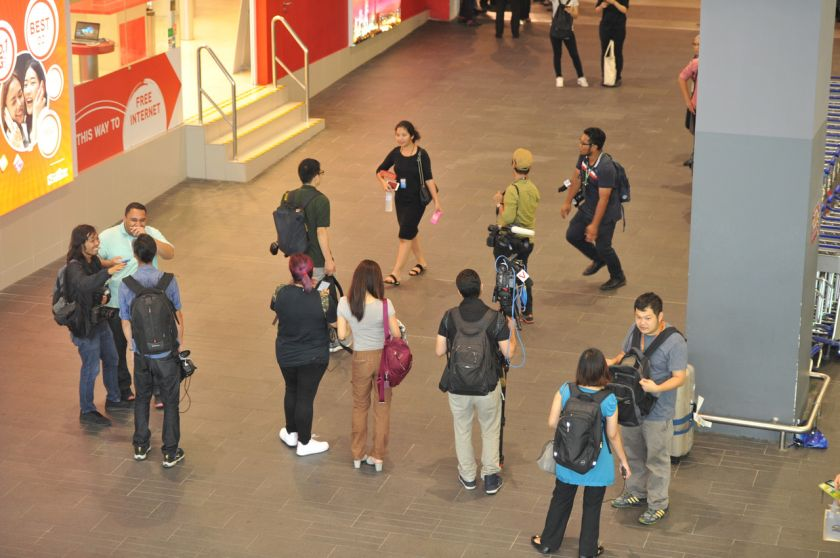 Members of the media had zeroed in on locations, namely, the international arrival hall and the VIP lane and tried to chase individuals who looked like Han-sol but ended up disappointed. ?Bernama pic