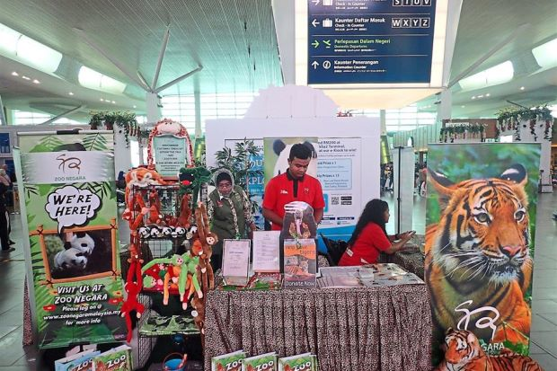 Malaysia Airports and Zoo Negara working together to raise public awareness on wildlife conservation through the Indulge & Explore campaign