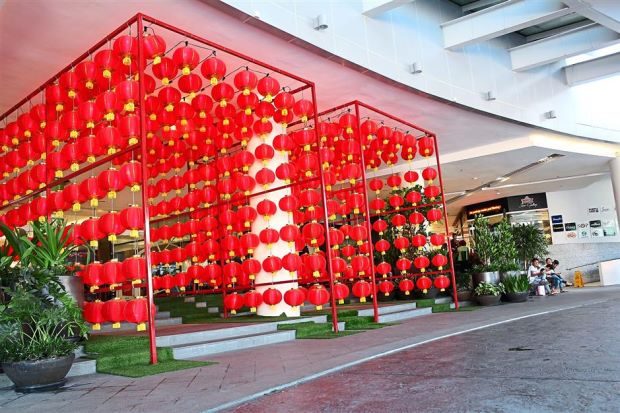 Festive ambience: Paradigm Mall and gatewayklia2 are decorated with brightly lit Chinese-style lantern arches and colourful lanterns.