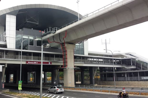 The new BK5 LRT station in Bandar Kinrara,which is part of the Ampang LEP, is ready to serve the community there on Oct 31.