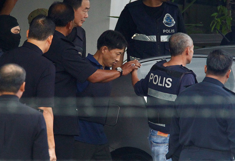 North Korean suspect in Kim Jong-nam murder, Ri Jong-chol, leaves a Sepang police station to be deported, in Selangor March 3, 2017. - Reuters pic