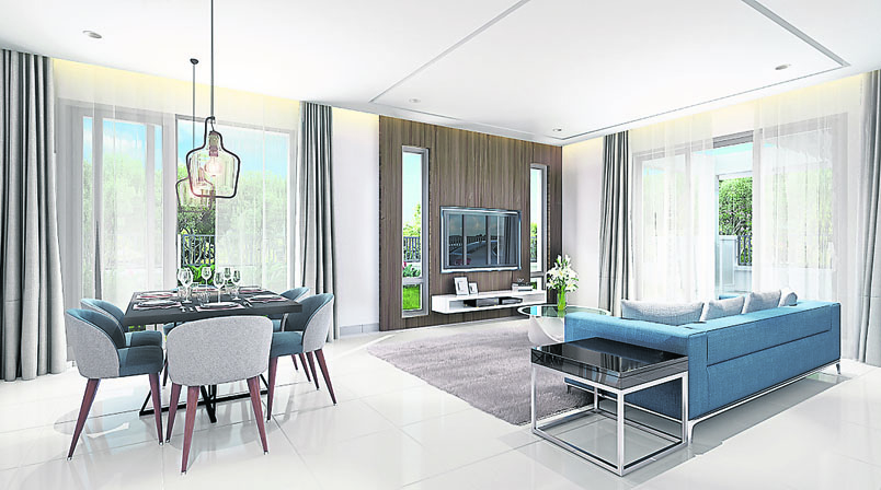 Interior design of Serenia City development