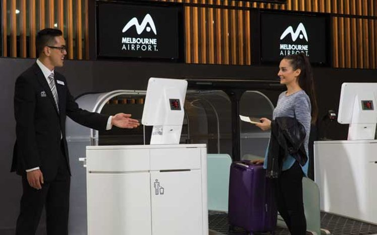 Melbourne Airport's new self-service check in zone