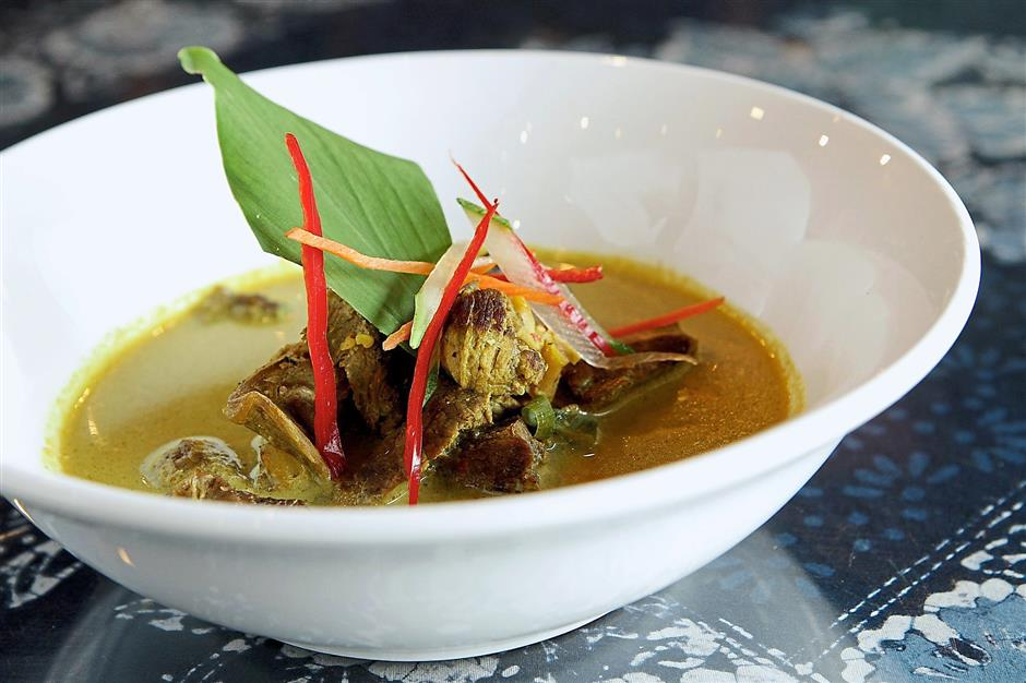 The Daging Salai Masak Lemak has a thick, creamy and tasty gravy.