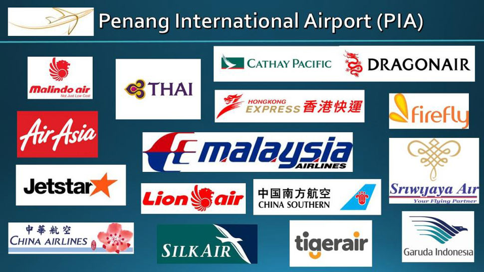 Airlines using the Penang International Airport