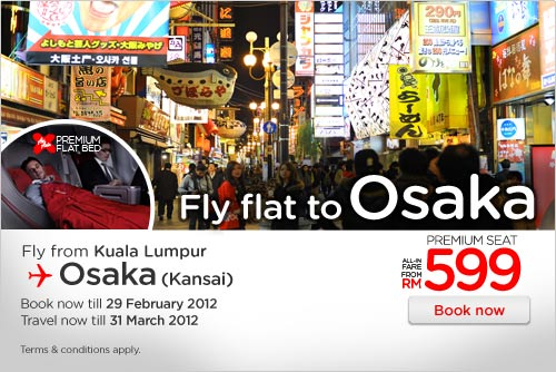 AirAsia Promotion - Fly Flat To Osaka