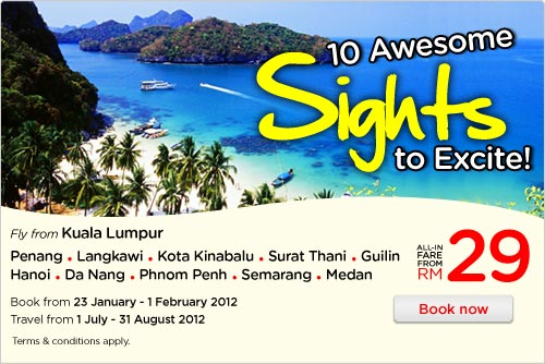 AirAsia Promotion - 10 Awesome Sights to Excite!