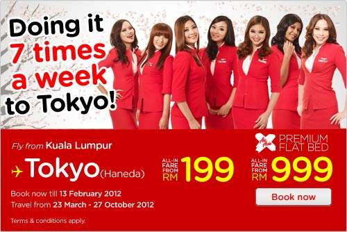 AirAsia Promotion - Doing It 7 Times A Week To Tokyo!