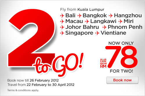 AirAsia Promotion - 2 To Go