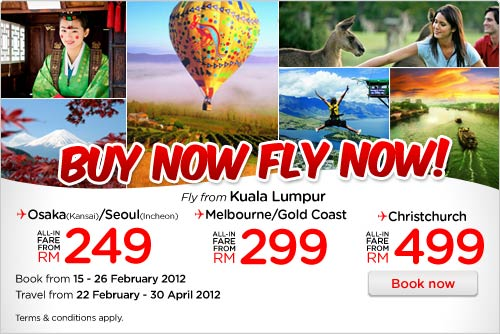 AirAsia Promotion - Buy Now, Fly Now!