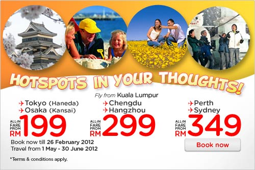 AirAsia Promotion - Hotspots In Your Thoughts!