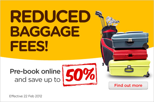 AirAsia Promotion - Reduced Baggage Fees