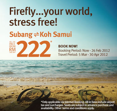 Firefly Promotion - Your world, stress free