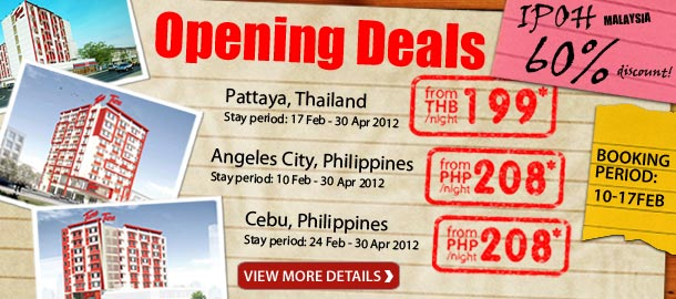 TuneHotels Promotion - Opening Deals! Pattaya, Thailand from THB199/night!