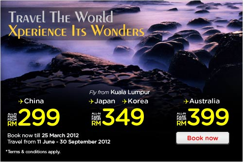 AirAsia Promotion - Travel The World, Xperience Its Wonders!