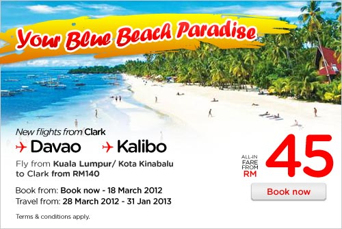 AirAsia Promotion - Your Blue Beach Paradise!