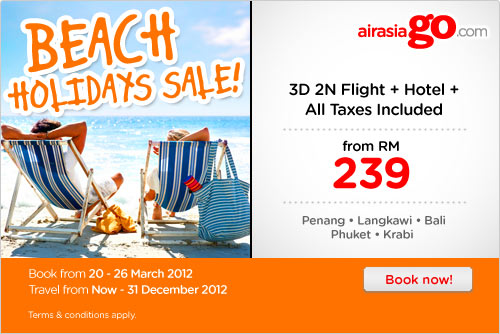 AirAsia Promotion - Beach Holiday Sale