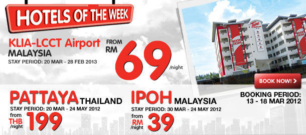 TuneHotels Promotion - Hotels of the Week 13/03/2012