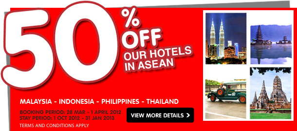 TuneHotels Promotion - 50% Off Hotels in Asean