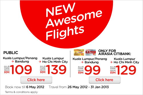 AirAsia Promotion - New awesome flights