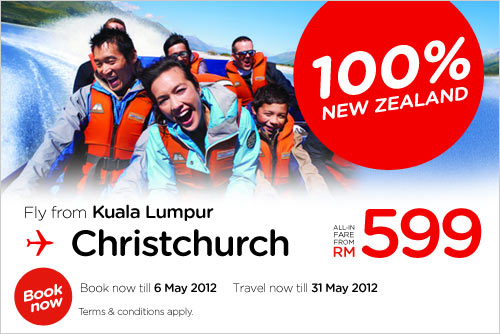 AirAsia Promotion - 100% New Zealand