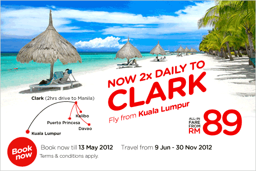 AirAsia Promotion - Now 2X Daily to Clark