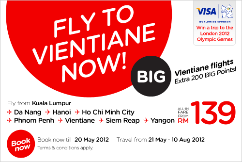 AirAsia Promotion - Fly to Vientiane