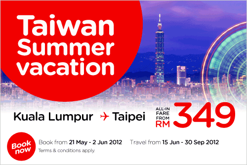 AirAsia Promotion - Taiwan Summer Vacation
