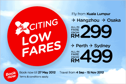 AirAsia Promotion - Hot Fares That'll Fly You Away!