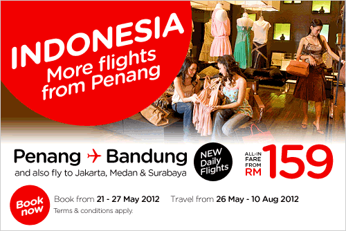 AirAsia Promotion - More Flights From Penang
