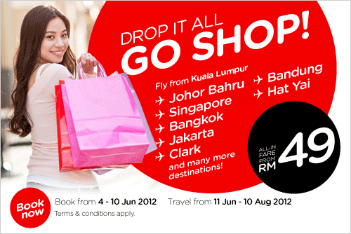 AirAsia Promotion - Drop it all, go shopping