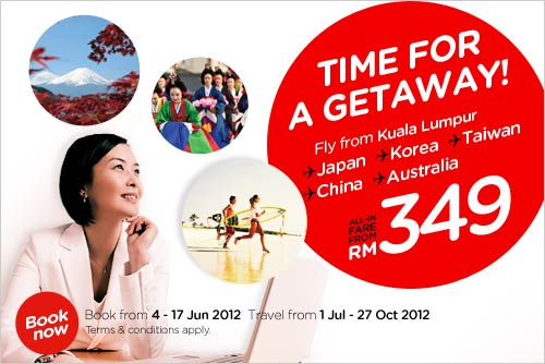 AirAsia Promotion - Time for a getaway