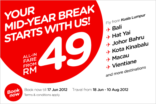 AirAsia Promotion - Your Mid-Year Break Starts With AirAsia!