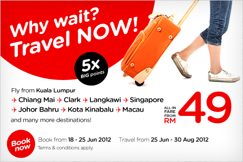 AirAsia Promotion - Why wait, travel now