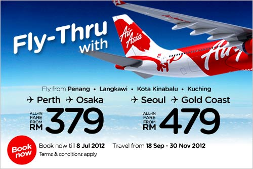 AirAsia Promotion - Book The Lowest Fares Now