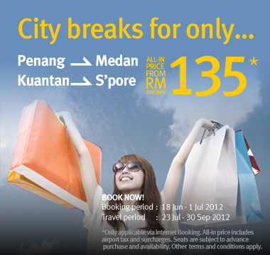 Firefly Promotion - City break for only RM135*