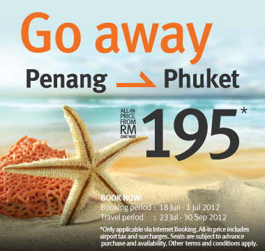 Firefly Promotion - Go away from RM195*