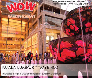Malaysia Airlines Promotion - Wow! Wednesday