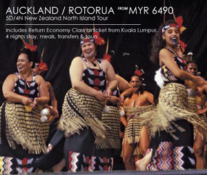 Malaysia Airlines Promotion - Auckland / Rotorua