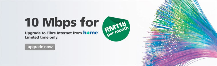 Maxis Promotion: Home Fibre Internet for RM118 per month*