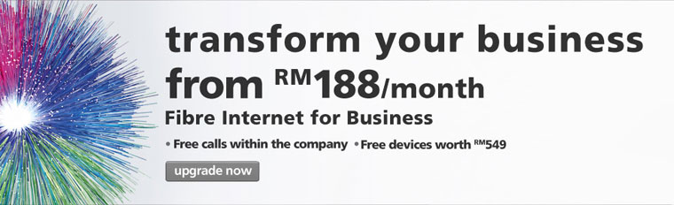 Maxis Promotion: Transform your business from RM188 per month*