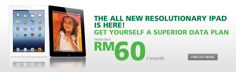 Maxis Promotion: IPad Superior Data Plan from RM60 per month