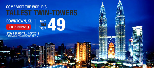 TuneHotels Promotion - World's Tallest Twin-Towers