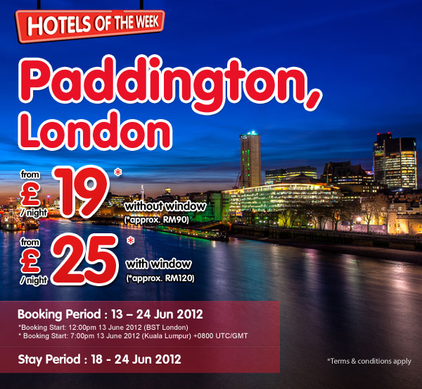 TuneHotels Promotion - Paddington, London