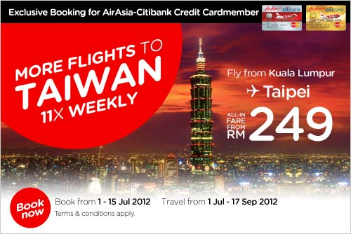 AirAsia Promotion - More Flights To Taiwan