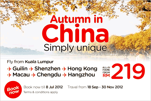 AirAsia Promotion - Autumn in China