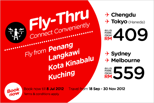 AirAsia Promotion - Fly-Thru, Connect Conveniently